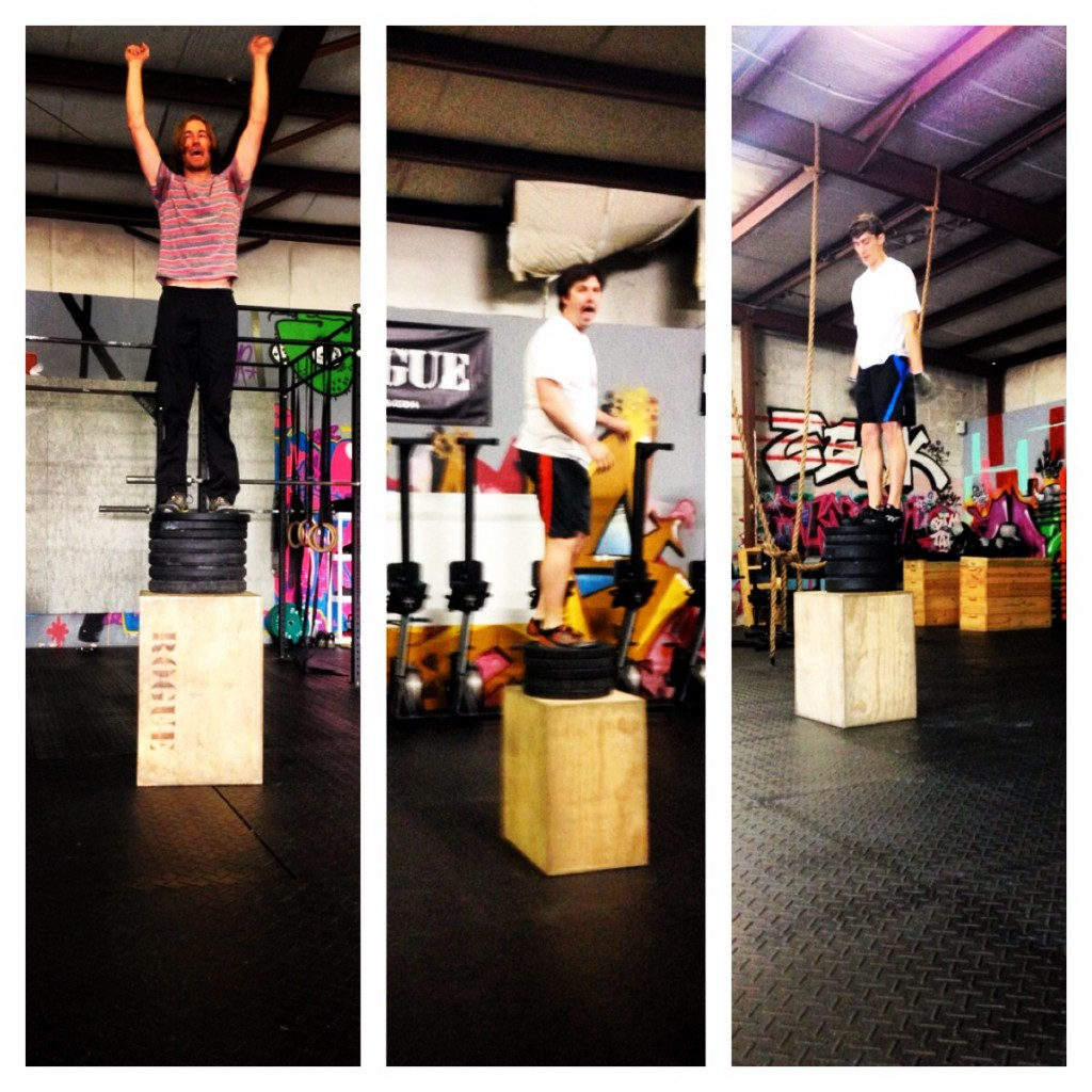 Max, Grant, and Nick maxin' out on box jumps!